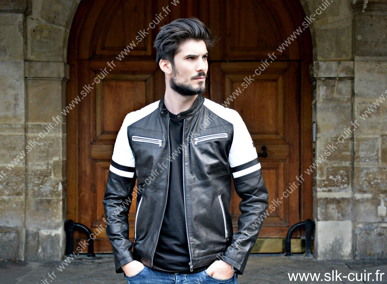 Veste cuir ventiuno homme – Vestes élégantes populaires